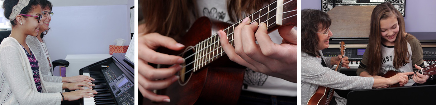 Piano, guitar and ukulele lessons
